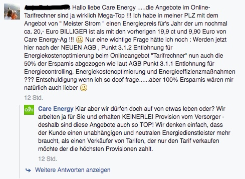 Care Energy Tarifrechner Konditionen