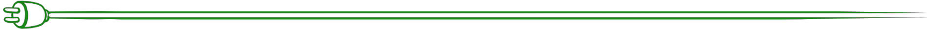 Stromanbieter Vergleich - Kapiteltrenner grünes Stromkabel oben