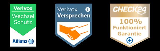 Vergleichsportal Verivox & Check24 Wechselschutz