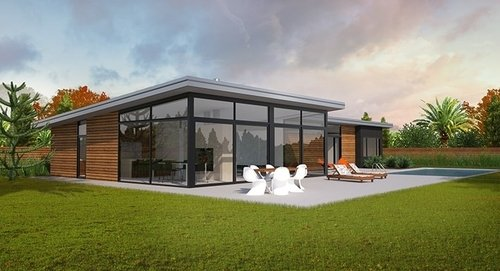 Architectural house plans homepacks for Long narrow house plans nz