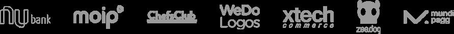 logos dos clientes de atendimento do Atende Simples