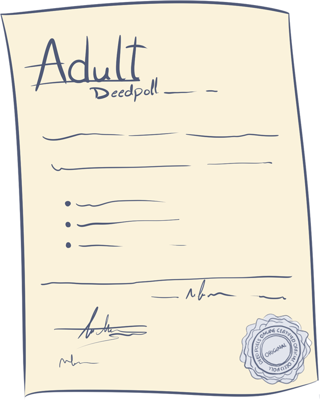 What is an Adult Deed Poll?