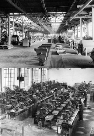 The old Irish Wire Products factory floor where wire and nails were produced