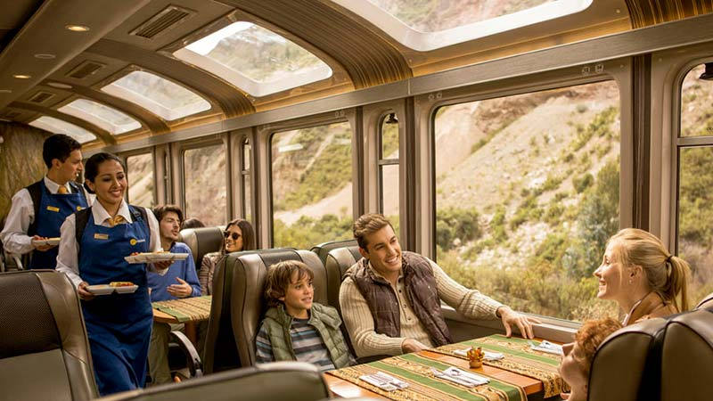 Luxury Hiram Bingham Train - Dining Car