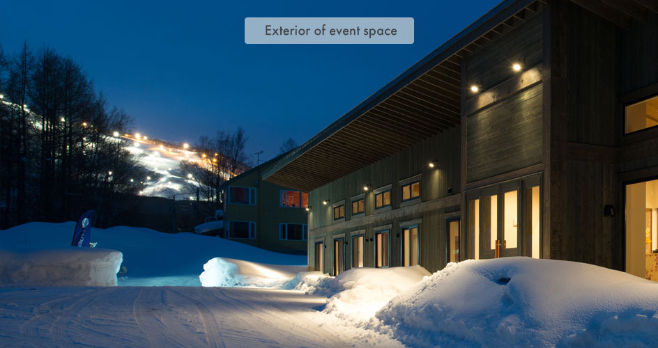 Exterior of event space in Niseko