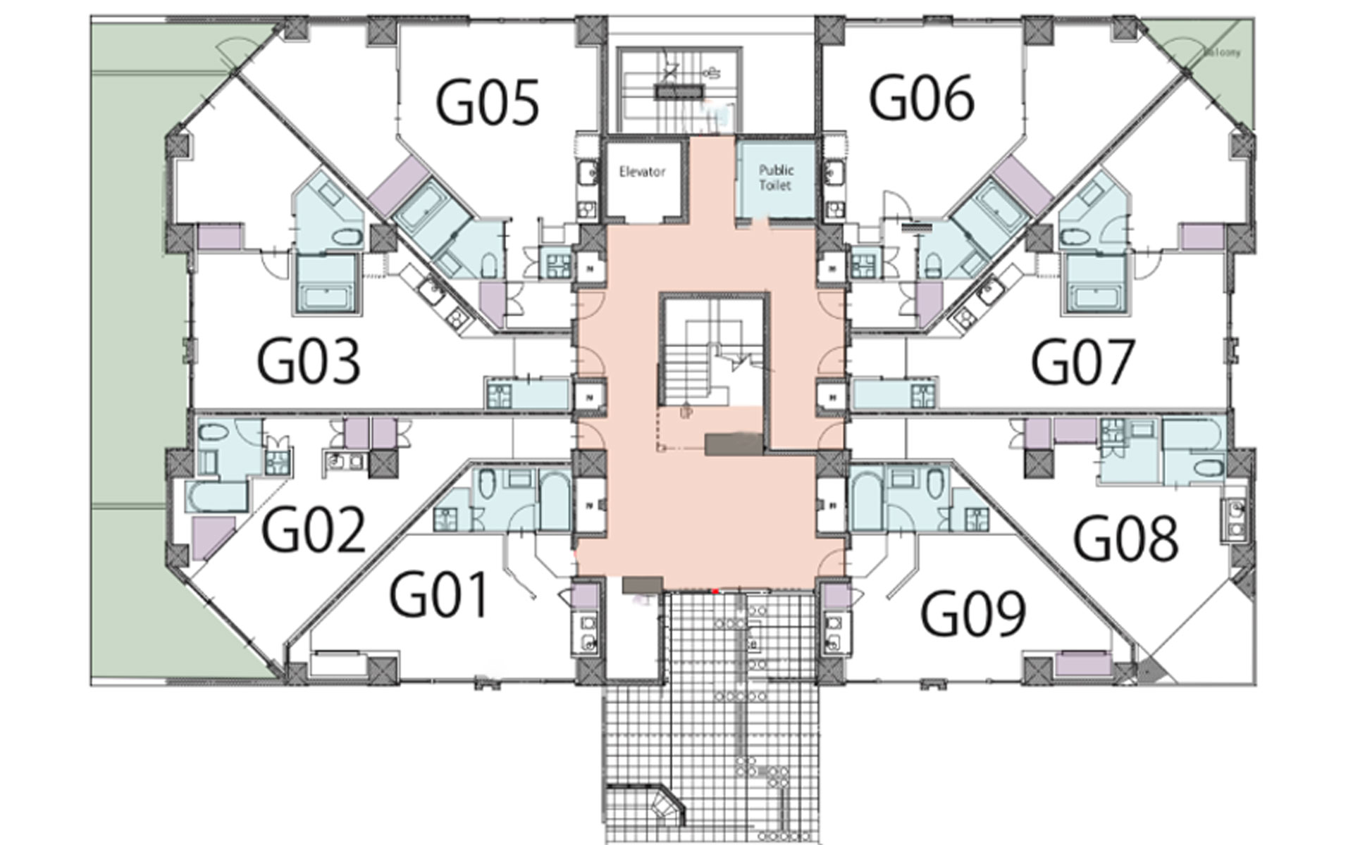 Akazora one bedroom floorplan