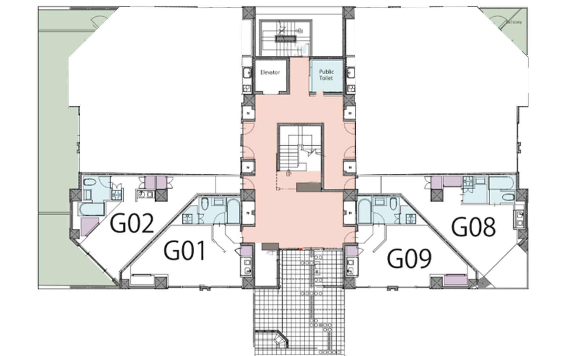 Akazora studio floorplan