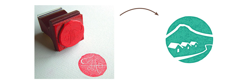 MnK rebranding inspired by the Japanese Hanko stamp
