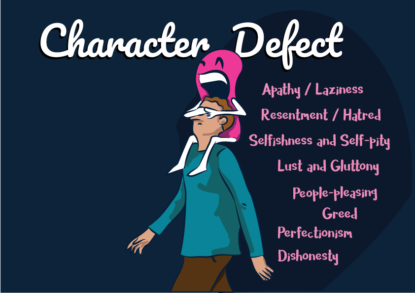 Character Defects Or Flaws - A list of major defects.