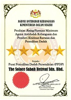 MALAYSIA HONORS SOLACE WITH A 5 STAR AWARD FOR HIGHEST QUALITY TREATMENT IN THE NATION