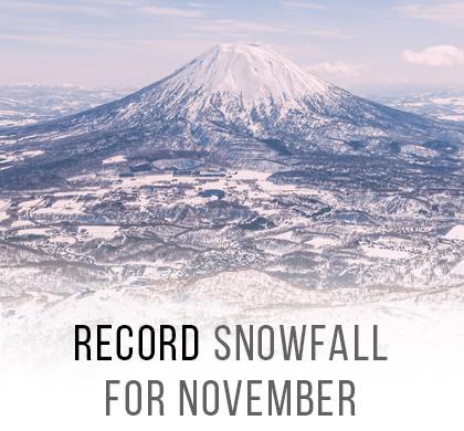 Record November Snowfall in Niseko