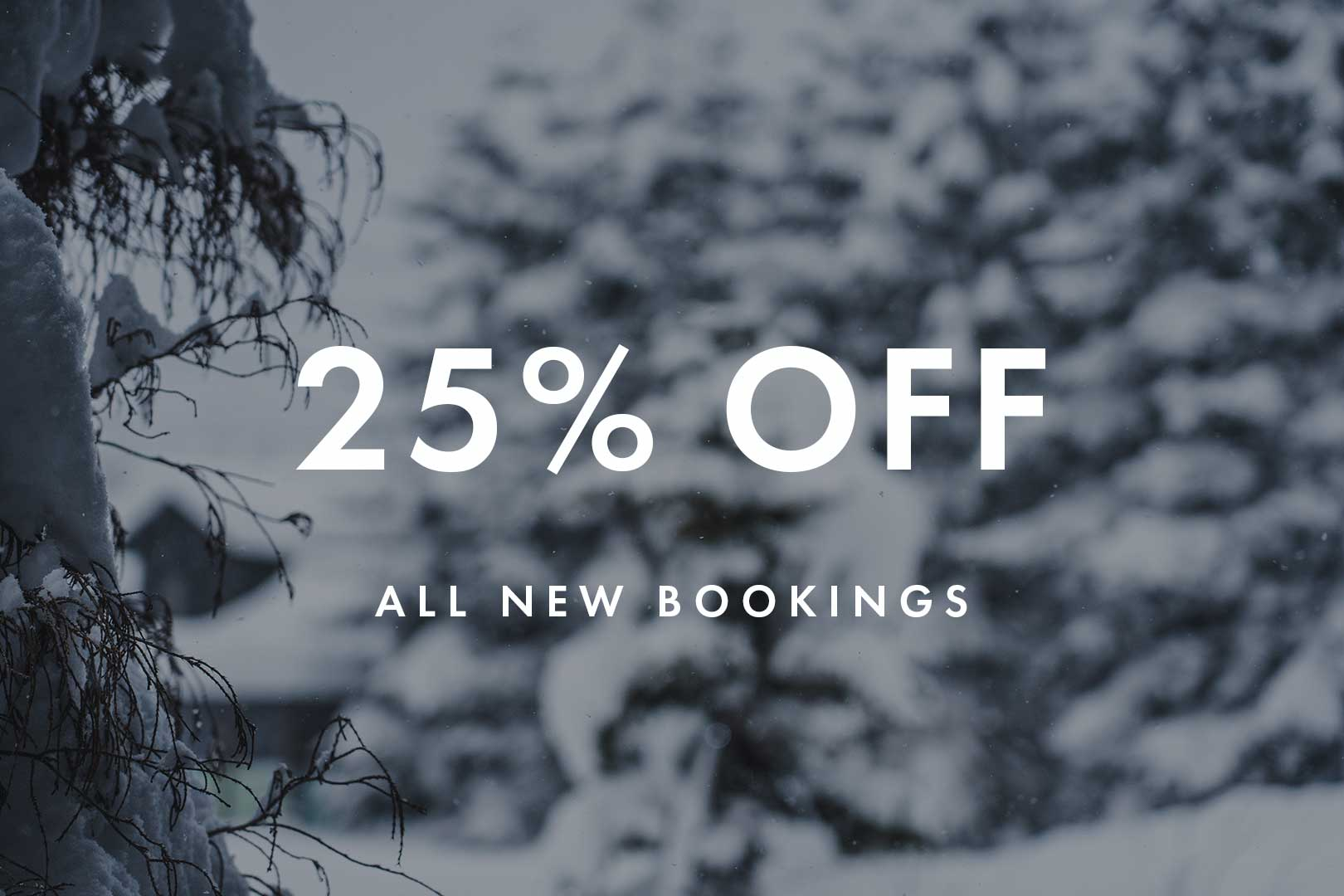 Winter Deal: 25% Off