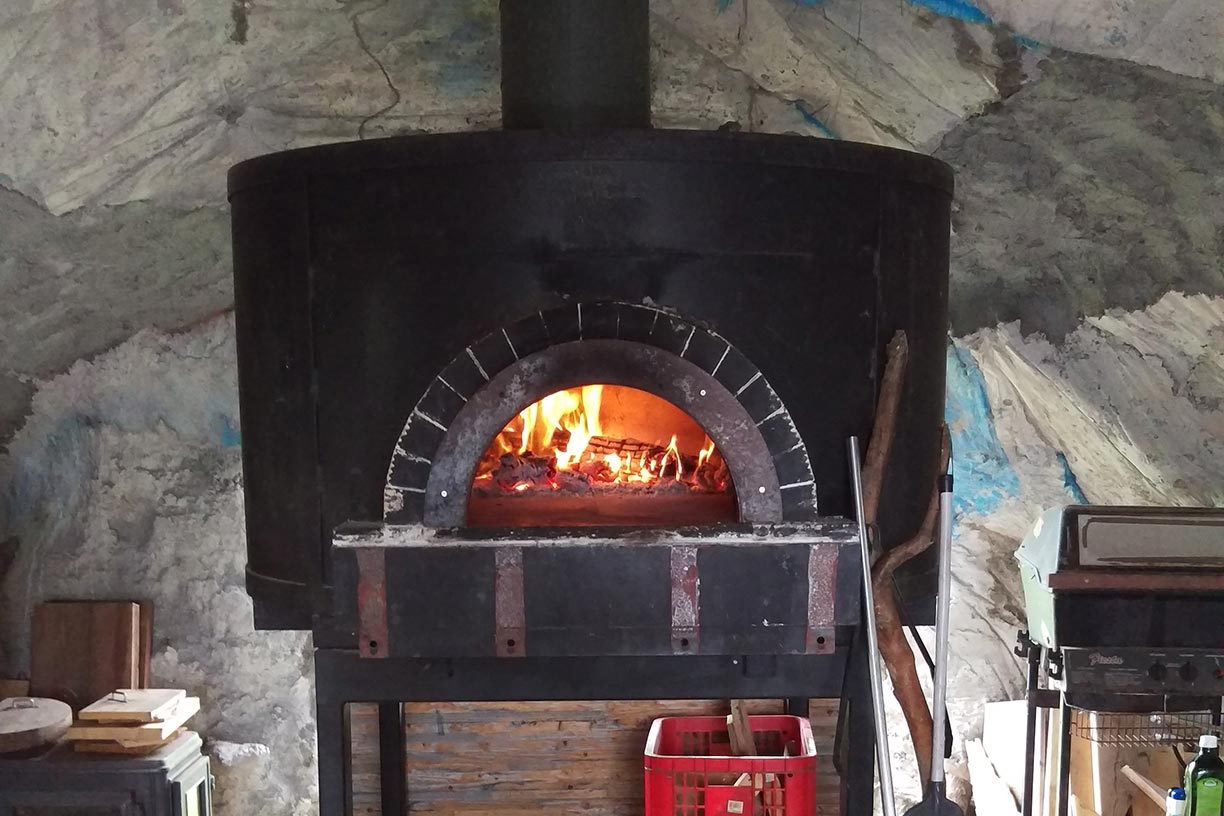 Wood fire oven for pizza making