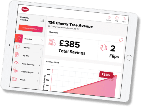 Flipper Energy Switch Savings Dashboard