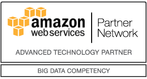 amazon web services Partner Network Logo für Advanced Technology Partner mit Big Data Competency