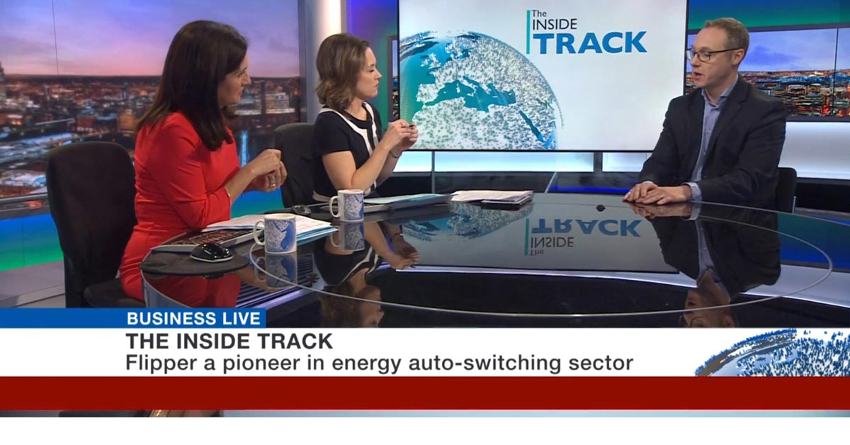 Autoswitching service Flipper appears on BBC news. Pioneers in energy auto-switching sector