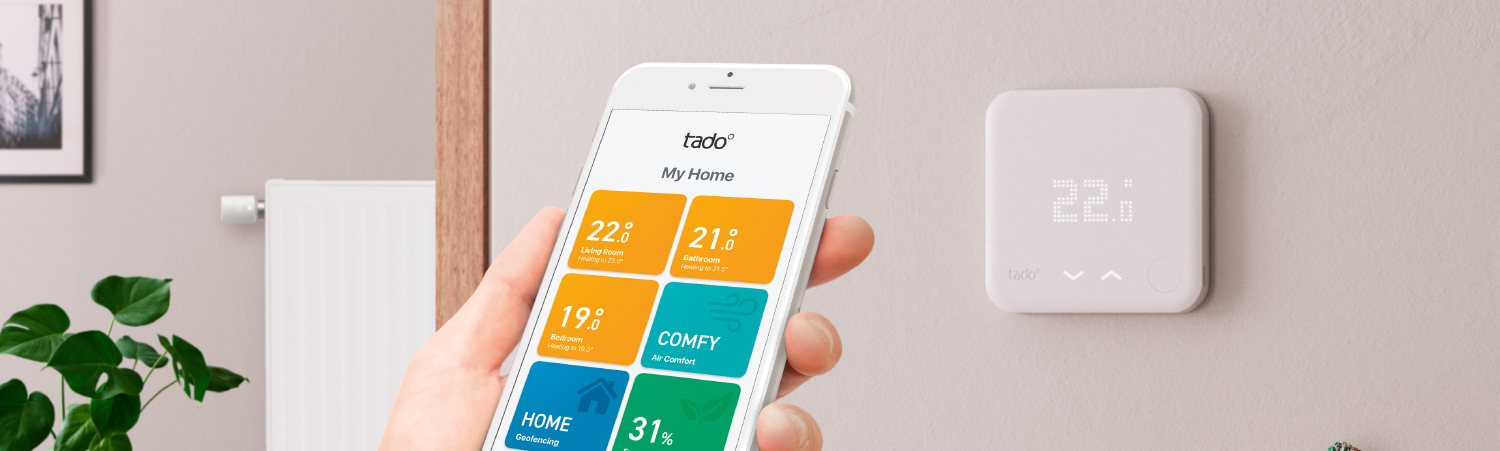 smart thermostat with app for smart home - example by Tado