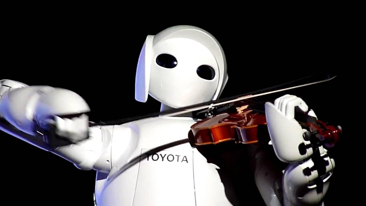 Honda's ASIMO robot playing the violin