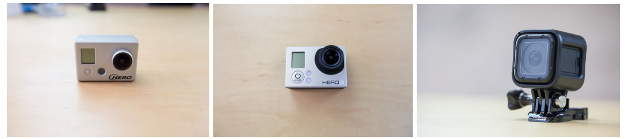 gopro hero, hero3, and session