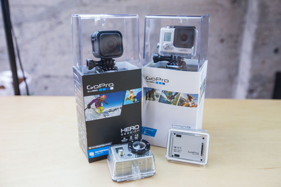 go pro hero original, hero3, and session cameras