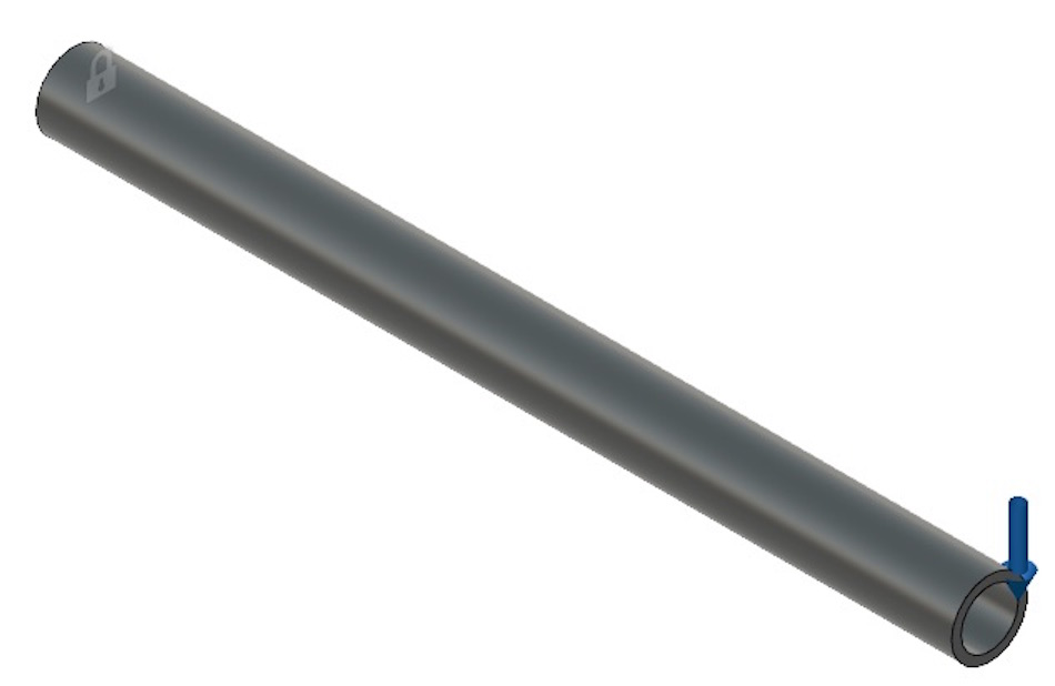 a simple tube that is cantilevered with a force applied at one end