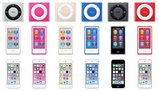 iPod colors