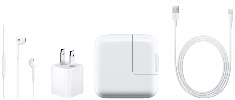 white Apple accessories