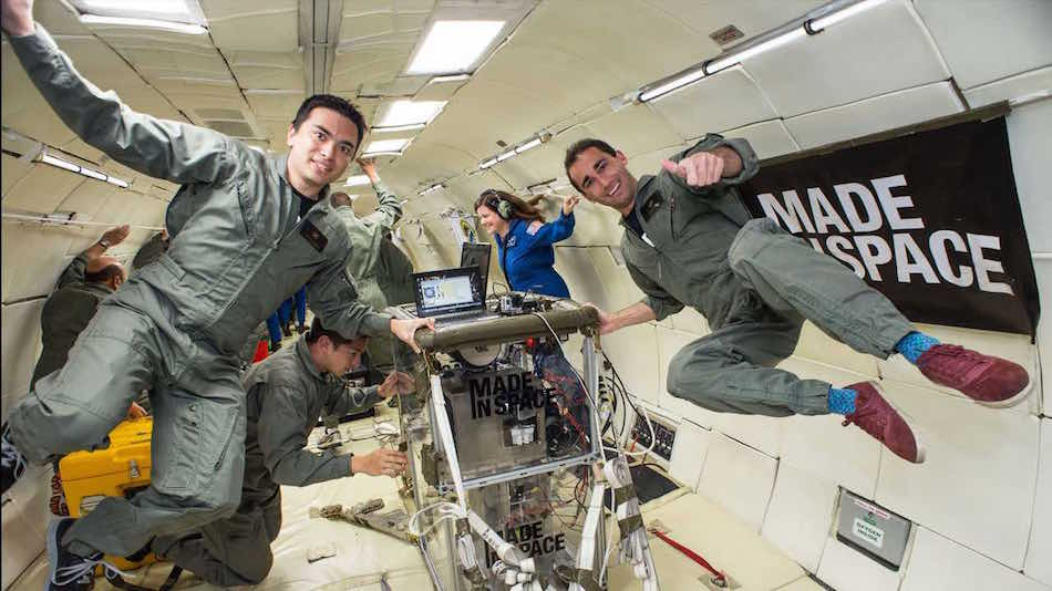 Made in Space 3D printer in zero gravity