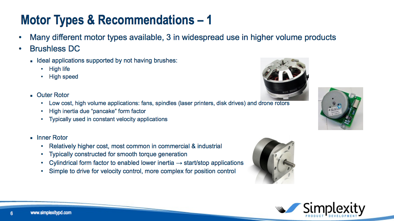dc motor types and recommendations
