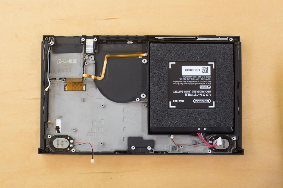 Inside of the Nintendo Switch Console