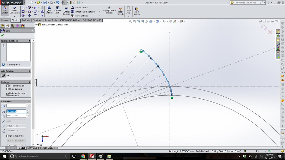 Creating Involute Gears in CAD