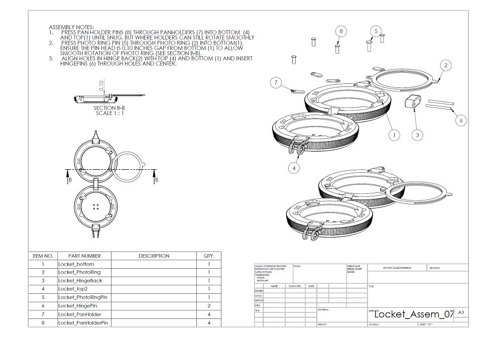 2D drawing of the parts together for RFQ package