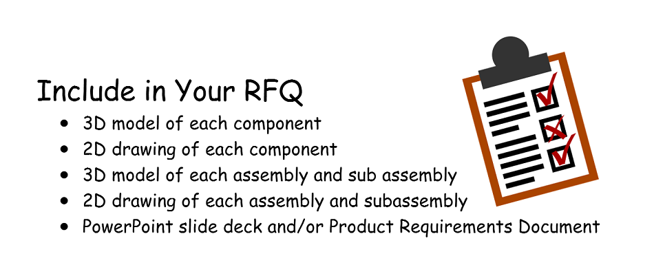 what to include in your RFQ or tech package