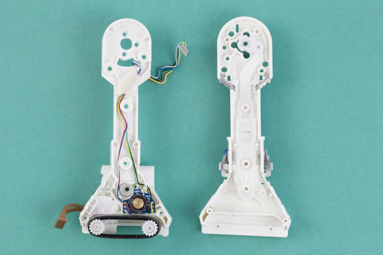 CAMs and motors inside sphero R2-D2 legs