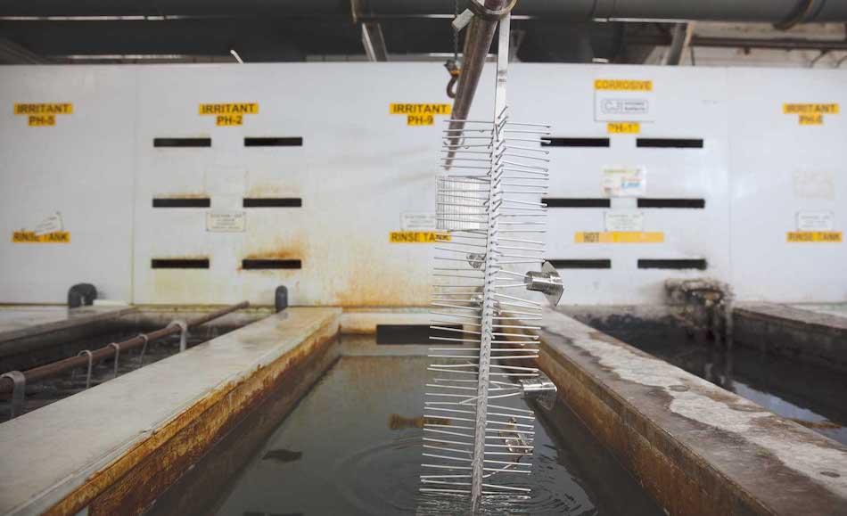 anodizing process: rinse cycle