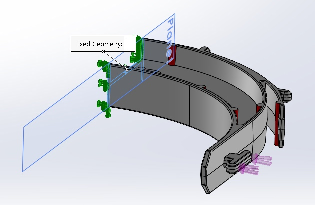 model of head band for face shield
