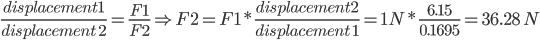 equation estimating required force to obtain deflection