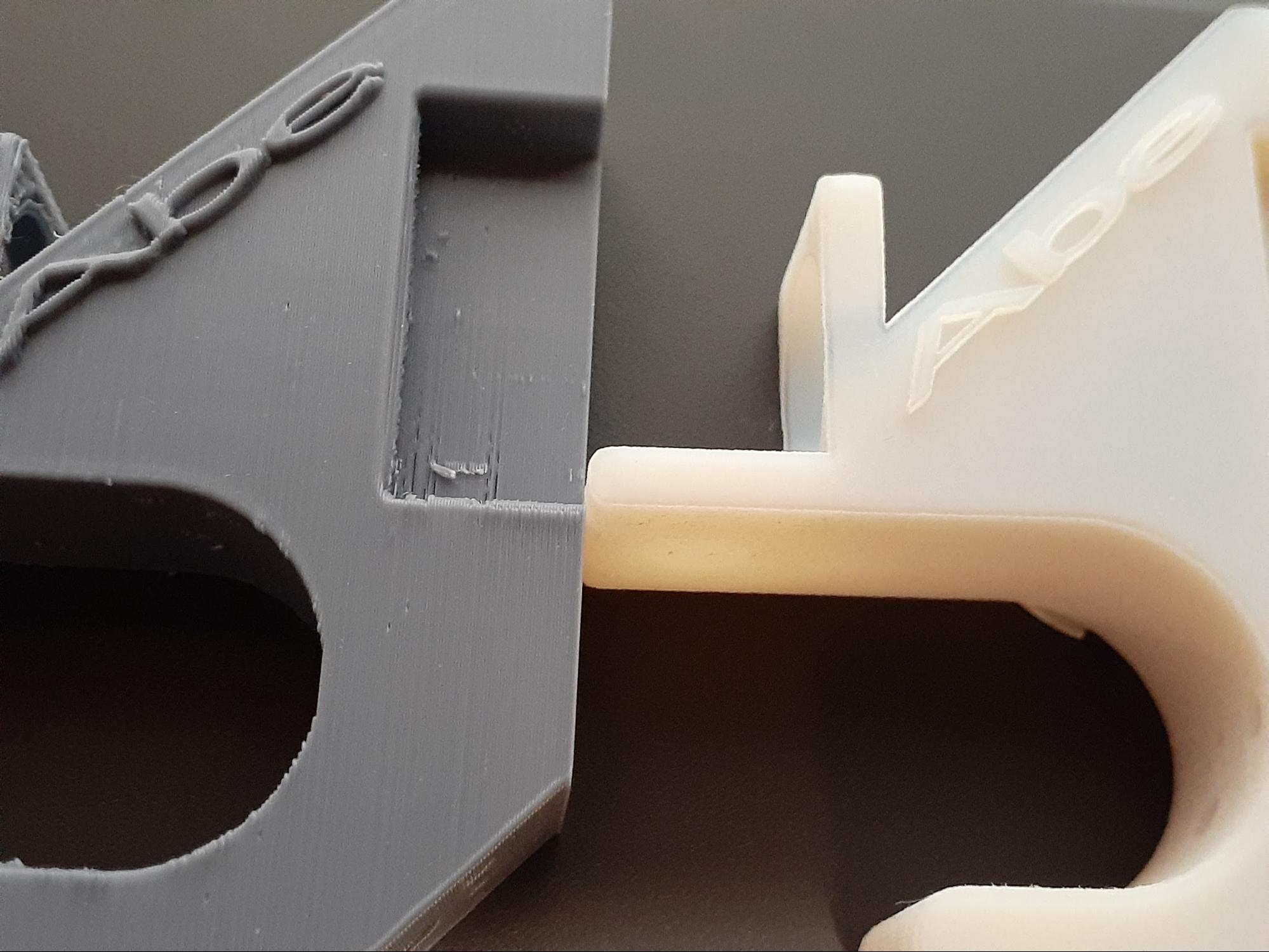 The nickname 'Abe' is easily recognizable in both 3D print materials