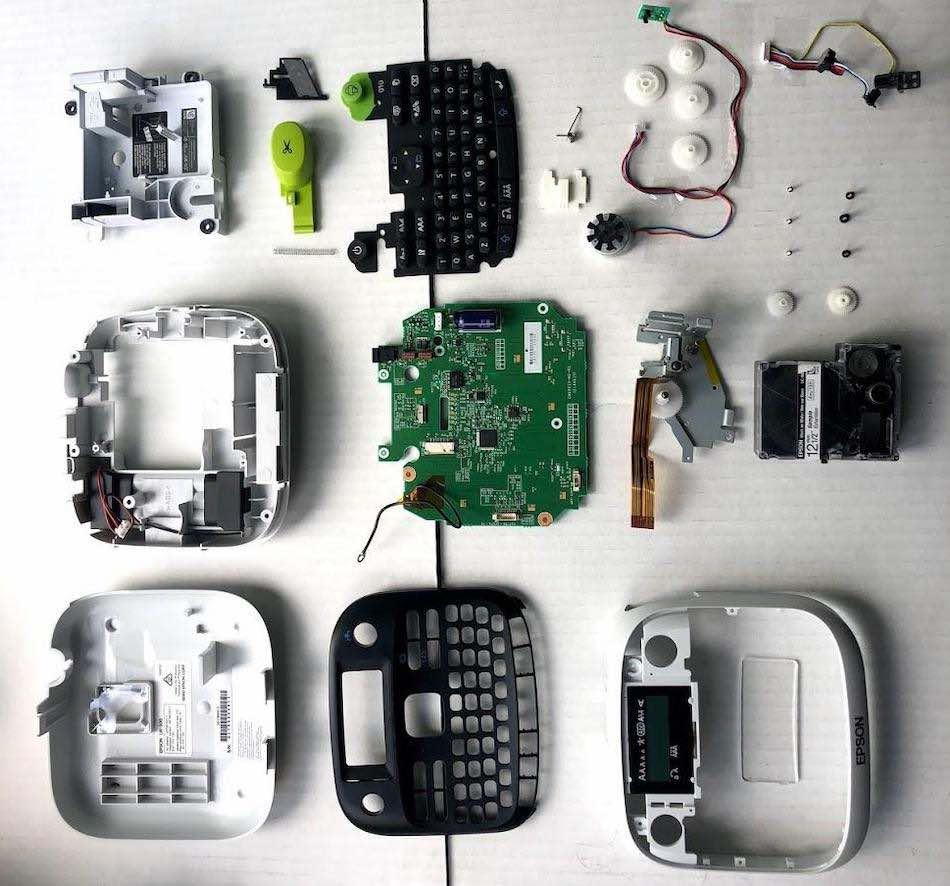 Epson LW-300 label maker, taken apart