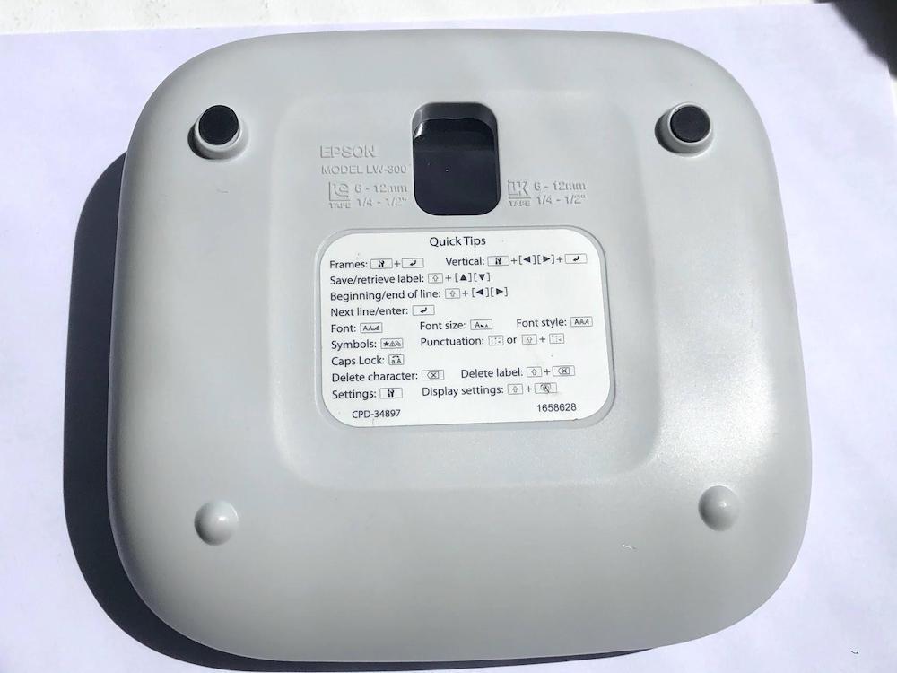 Polystyrene shell of label maker