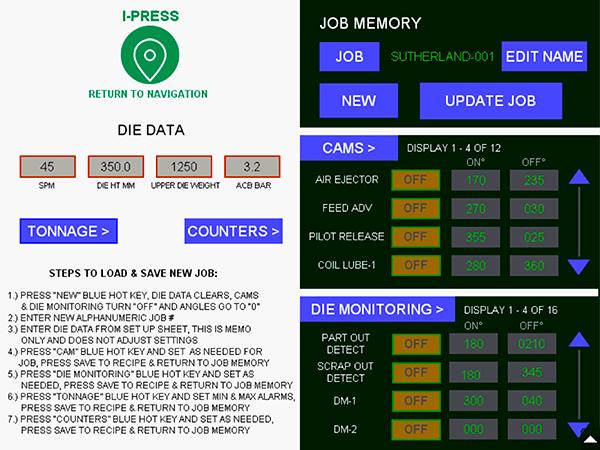 I-PRESS AB PLUS Job Memory