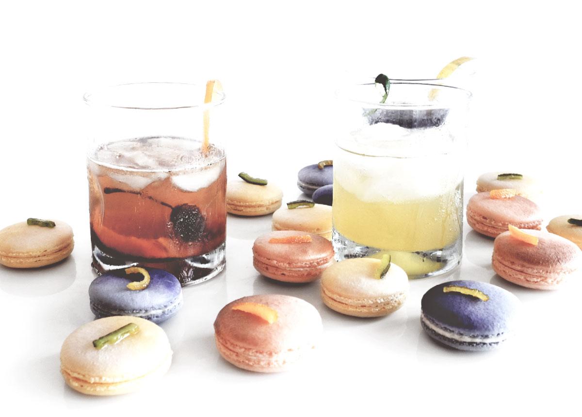 Vintage Cocktail Macarons