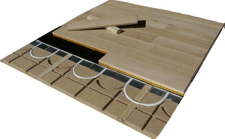 plancher chauffant Caleosol Tradi ECO+ avec lambourdes