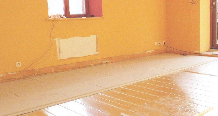 Chape sèche pour plancher chauffant sec mince