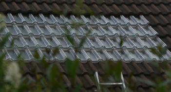 Tuile solaire thermique pour chauffage solaire