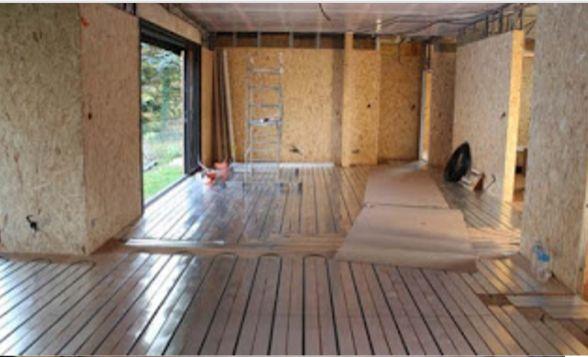 Plancher chauffant en construction