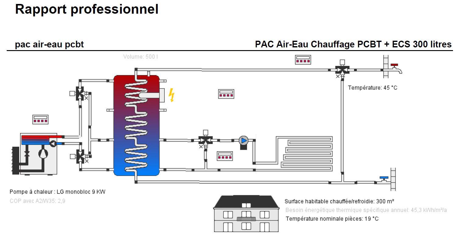 pompe chaleur lg therma v 9 kw air eau monobloc r32. Black Bedroom Furniture Sets. Home Design Ideas