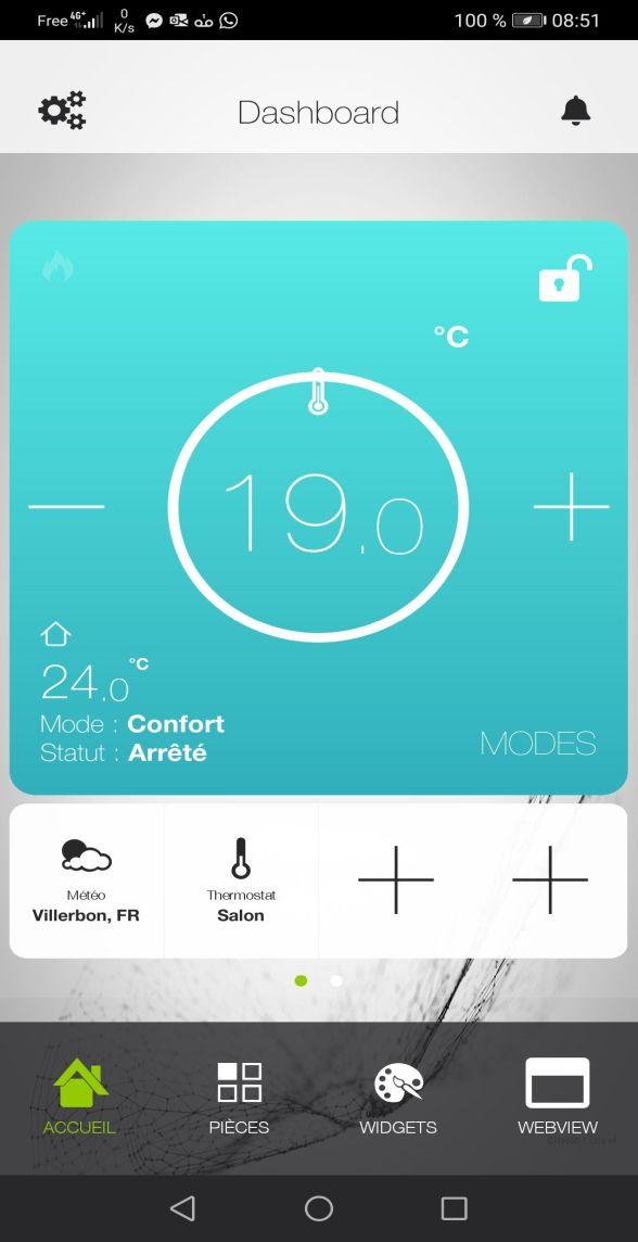 Thermostat pour Box domotique CaleoDom
