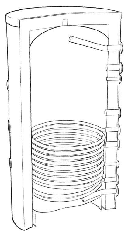 Ballon chauffe-eau solaire 150 litres 1 échangeur