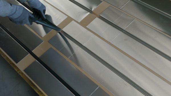 Pose tuyau d'un plancher chauffant eau